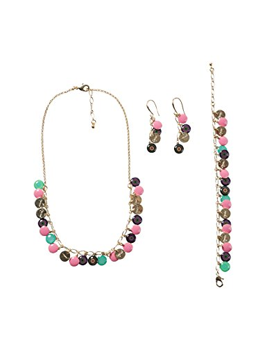 Desigual - Parure collier, bracelet et boucles d'oreille Femme Métal