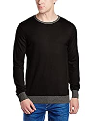 Gas Mens Cotton Sweater (8059890673278_75811200_Large_Black)