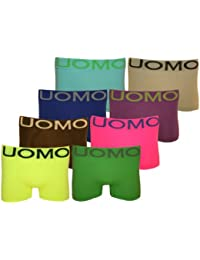 5/10/20er SPAR Pack UOMO Boxershorts knalligen NEON FARBEN Retroshorts Mikrofaser Unterhosen