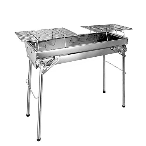 Grill à charbon outdoor pliant grille de barbecue inox rack portable Barbecue four , 77*28*76 standard