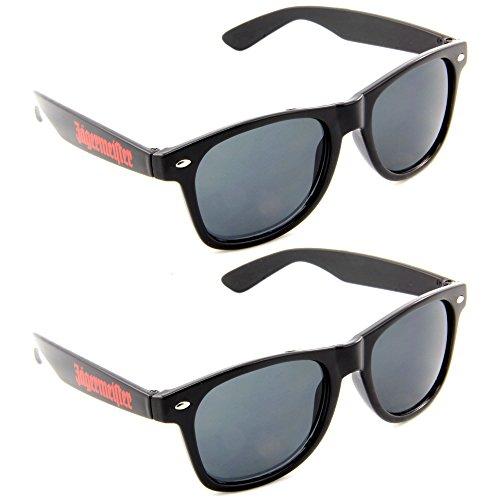 2x Jägermeister Sonnenbrille wayfarer Style hipster (2er Sparpack)