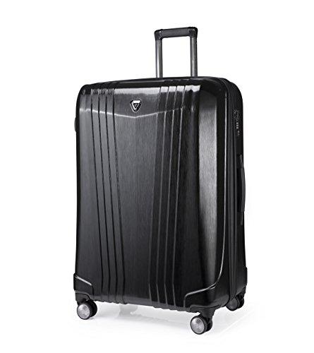 """Verage Manhattan Hartschalenkoffer 4 Rollen Trolley Reisekoffer Schwarz, M-88L (25\"""") TSA integriert, erweiterbar, ABS/PC Kratzfest, regensicherer Reißverschluss"""