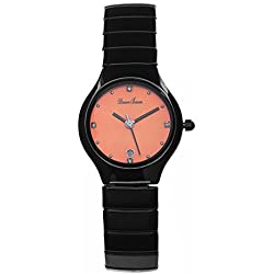 Lady ceramic watch/Simple waterproof quartz watches/Business casual watches-D