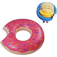 Inflatable Swimming Swim Ring, Giant Inflable Doughnut Pool Float, Summer Fun Swimming Ring Piscina