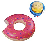 Inflatable Swimming Swim Ring, Giant Inflable Doughnut Pool Float,...