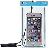 Liamoo Wasserhülle für Smartphones bis 6 Zoll Wasserfest Wasserdicht Staubdicht Sanddicht Ölfest sehr robust für z.B. iPhone 5 6 6 7 Plus, Samsung S5 S6 S6 edge S7 S7 edge Note 4 5, HTC M8 M9 10 ..... Wasserschutzhülle in Blau