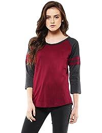 Veirdo Women's T-Shirt (Tsh_Maroon_Milange_Girl_P_Grey)