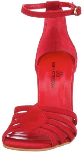 Sofie Schnoor S121651, Damen Sandalen/Fashion-Sandalen Rot (Red)