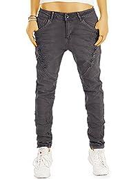 Bestyledberlin Damen Boyfriend-Jeans, Baggy Style Denim Hose, Loose Fit Jeans j17g
