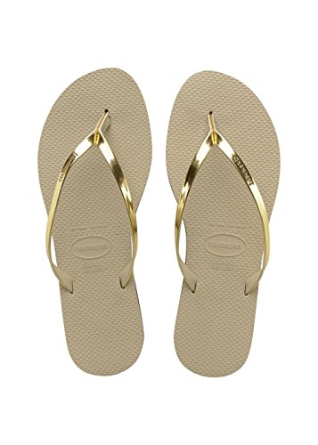 Havaianas Damen You Metallic Zehentrenner,Gold (Sand Grey/Light Golden 2719),37/38 EU (35/36 Brazilian)
