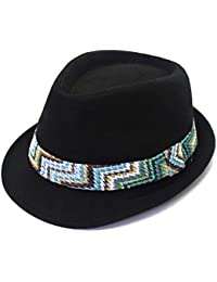 eb440c332efeb outfly Unisex Fedora Trilby Hat Top hat 100% Cotton Panama Style Summer  Beach Sun Jazz