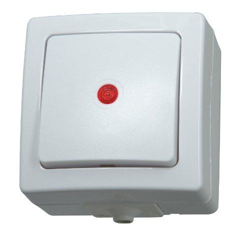feuchtraum taster aufputz Kopp 566302004 Taster beleuchtbar Aufputz Feuchtraum Nautic arktis-weiß