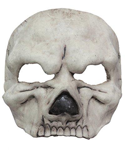 Kostüme Für Erwachsene Halloween Einfache Und Günstige (Sensenmann Halbmaske als gruseliges Accessoir für Dein grusliges Halloween)