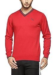 Puma Mens Cotton Sweater (4056207217204_83986503_Small_Barbados Cherry and Asphalt)