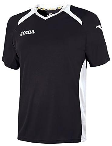 Joma Men's 1196.98.010 Short Sleeve T-Shirt - Black/White, X-Large