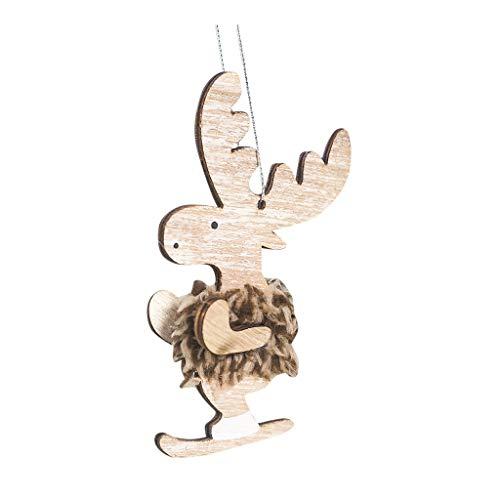 Heetey Weihnachten Frohe Weihnachtsschmuck Geschenk weihnachtsmann schneemann Baum Spielzeug Puppe hängen Dekorationen Weihnachtsdekoration Plüsch aus Holz Elch Anhänger Weihnachtsdeko -