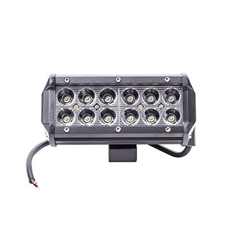 Cree 1*36W Spot Luce Faro da Lavoro Lampada per Veicolo di Costruzione Lampada per SUV Jeep Moto Barca Cortile e Giardino la Resistenza alla Polvere di Ruggine Riflettore LED Proiettore LED Luce di Profondità Spotlight Nero