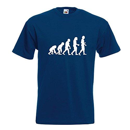 KIWISTAR - Evolution Charles Darwin T-Shirt in 15 verschiedenen Farben - Herren Funshirt bedruckt Design Sprüche Spruch Motive Oberteil Baumwolle Print Größe S M L XL XXL Navy