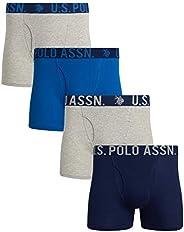 U.S. Polo Assn. Men's Cotton Boxer Briefs (4 P