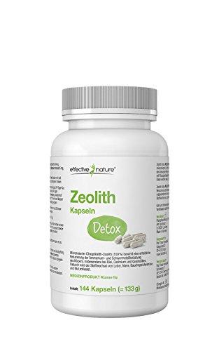 effective nature Zeolith Detox - 144 vegetarische Kapseln - zur effektiven Entgiftung - Zugelassenes Medizinprodukt - Neutralisiert Säuren