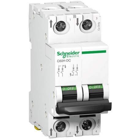 Schneider Electric A9N61526 Interruptor Automático Especial de CC, C60H, 500 V, 2P,...