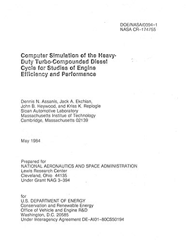 Computer simulation of the heavy-duty turbo-compounded diesel cycle for studies of engine efficiency and performance (English Edition) - Heavy-duty-computer