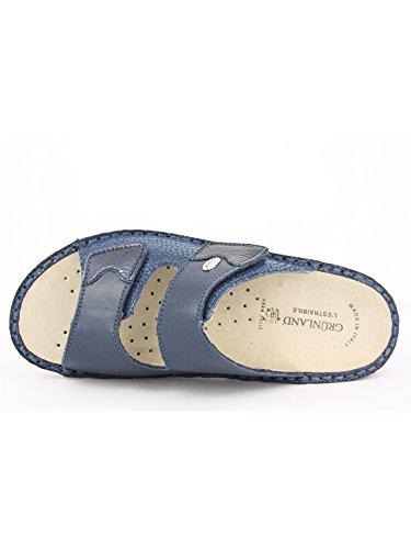 Grünland DARA CE0187 bleu dame pantoufles chicots première amovible Bleu - Blu