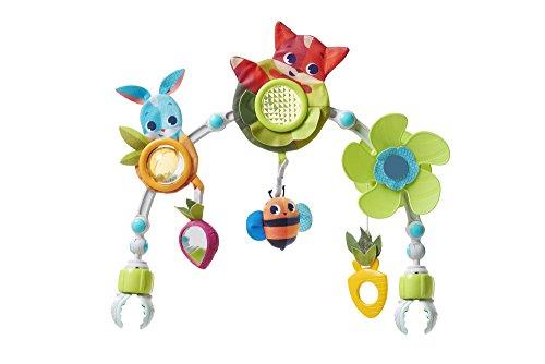 Tiny Love Sunny Stroll, Flexibler Spielbogen für den Kinderwagen mit 6 Spielfiguren, 0M +, Meadow Days Kollektion
