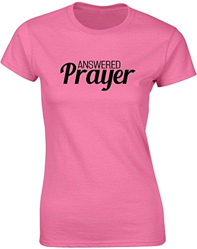 Brand88 - Brand88 - Answered Prayer, Gedruckt Frauen T-Shirt Azalee/Schwarz