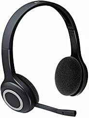 Logitech 981-000342 H600 Wireless Headset, Stereo Headphones with Rotating Noise-Cancelling Microphone, USB Na