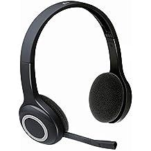 Logitech H600 - Auriculares inalámbricos de diadema cerrados (con micrófono, control remoto integrado)