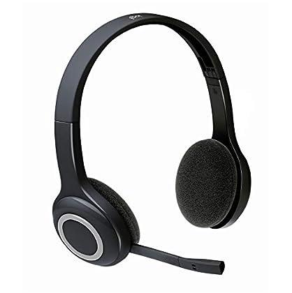 Logitech H600 - Auriculares inalámbricos de dia...