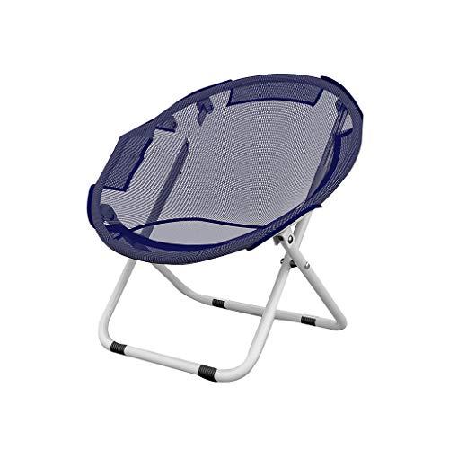 AUSTBEI Chaise pliante chaise longue en ferro-alliage (Couleur : Bleu, taille : 52 * 51 * 80CM)
