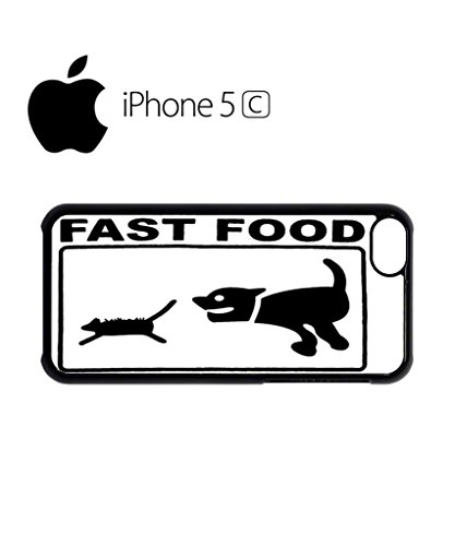 Fast Food Cat and Dog Mobile Cell Phone Case Cover iPhone 5c Black Schwarz