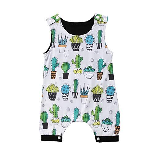 Kaktus Kostüm Mädchen - Yogogo Unisex Ärmellos Baby Strampler Schlafanzug