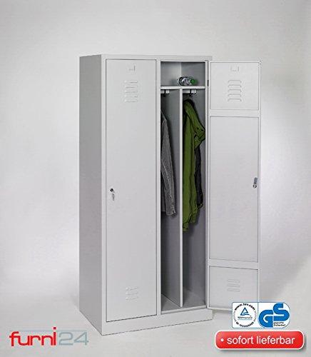 Garderobenschrank, Schließfach, Spind, Umkleideschrank, Kleiderschrank Abteilbreite 40 cm 2-türig