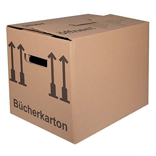 BB-Verpackungen Bücherkartons 2-wellig | 30 Stück | Aktenkartons Archivbox 400 x 318 x 328 mm | Karton mit Deckel & Schmetterlingsboden | 40KG Tragkraft | Bookbox für Umzug, Dokumente & Bücher