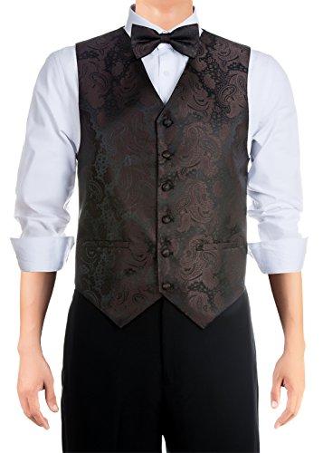 ey Strukturierte Woven Weste mit Krawatte, Fliege Geschenk-Box Set Gr. M, dunkelbraun (Halloween Box Set Billig)