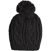 Vivente Vivo - Gorro unisex de esquí de lana con borla, talla única