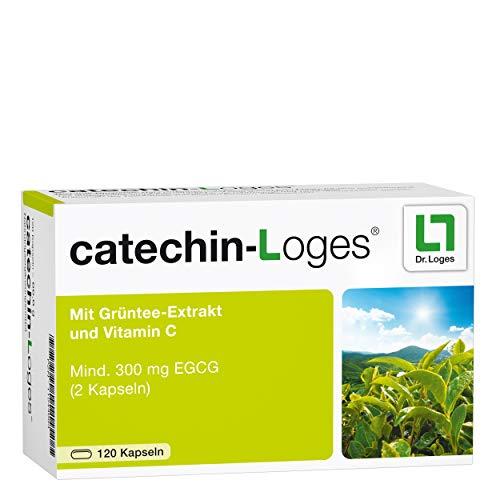 catechin-Loges® 2-Monatspackung - Hochwertiger Grüntee-Extrakt mit Vitamin C - Nahrungsergänzung mit Grüntee + Vitamin C (Acerola-Kirsche) - Hoher Anteil an Catechinen, entkoffeiniert - 120 Tabletten