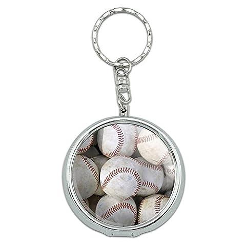 Portable Travel Size Pocket Purse Ashtray Keychain Sports and Hobbies - Baseballs - Baseball Balls