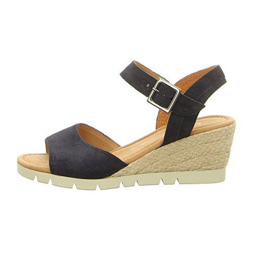 Gabor Nieve Womens Wedge Heel Sandalen 6.5 UK/ 40 EU Ocean Suede SS18 Womens Fashion Slingback Heels