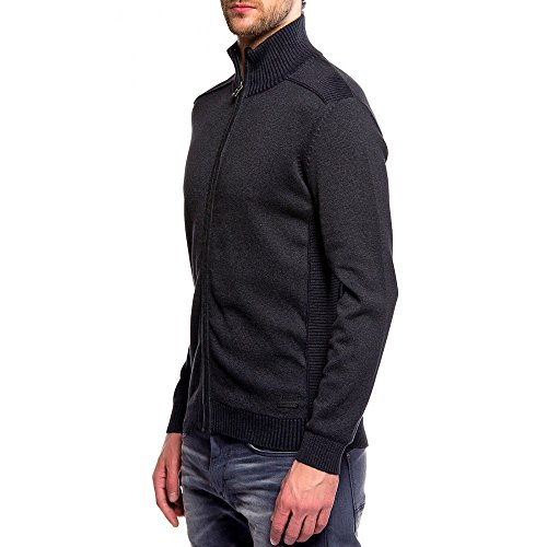Tom Tailor 30194140010 - Pull - Manches longues - Homme Gris (Black Grey Mélange)