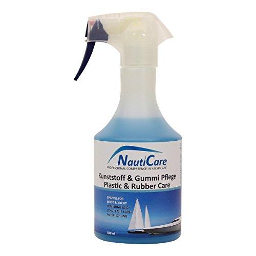 NautiCare Bootspflege Kunststoff & Gummi Außen - 500ml - Kunststoffpflege Gummipflege für Boot und Yacht