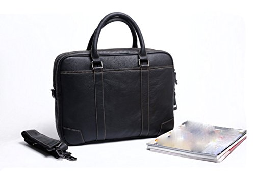 LAIDAYE Handtaschen-Handtaschen-Aktenkoffer-Geschäftsbeutel-Mannbeutelhandbeutel Der Männer Black