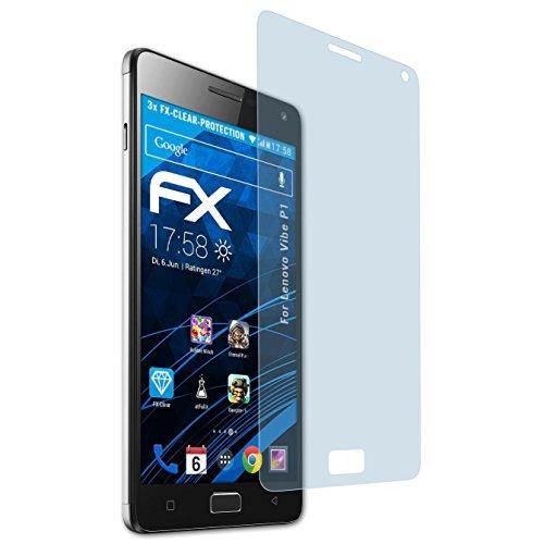atFolix Schutzfolie kompatibel mit Lenovo Vibe P1 Folie, ultraklare FX Bildschirmschutzfolie (3X)
