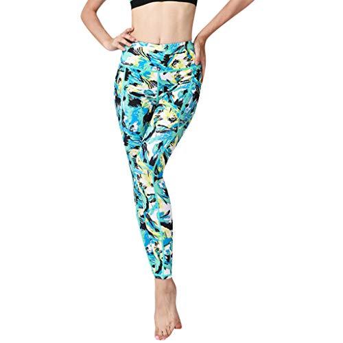 Frauherzz Damen Sportgamaschen, Mode Gedruckt hohe Taille Yogahosen Elastische Laufhose Fitness Leggings Jogginghose für Damen Workout Stretch Strumpfhosen - Safran-leder-schuhe