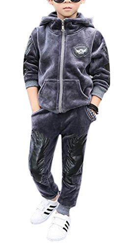 MILEEO Junge Sportanzug Kleidungs Set Tops and Jogginganzug Jogging Hose Freizeit Sweatsuit Sporthose (Hose Sweatsuit)
