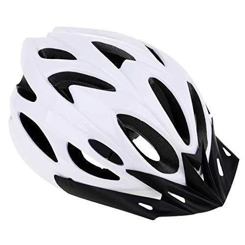 Baoblaze Erwachsene Fahrradhelm Herren Damen Helm für Klettern, Bergsteigen, Eislaufen, Motorradfahren, Radfahren - Weiß