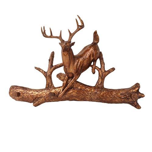 Deer Decor Europäischen Hirschkopf Wandbehang Dekoration Amerikanischen Simulation Tierkopf Haken Praktische Wohnzimmer Wanddekoration Hintergrund Wand Anhänger (Schädel-mount Europäische)